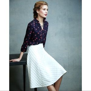 Anthropologie Sz L Textured Midi Skirt HD in Paris